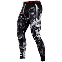 Компрессионные штаны Venum Samurai Skull Black