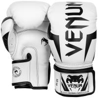 Перчатки боксерские Venum Elite White/Black