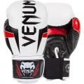 Перчатки боксерские Venum Elite White/Black/Red