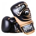 Перчатки боксерские Venum Tribal Boxing Gloves - Black/Gold - Nappa leather