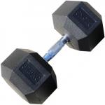 Гантель гексагональная обрезиненная ZSO от 1 до 70 кг