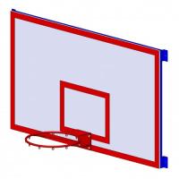 Щит баскетбольный тренировочный на металлокаркасе ZSO