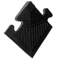 Уголок резиновый BARBELL для бордюра, чёрный, 12 мм